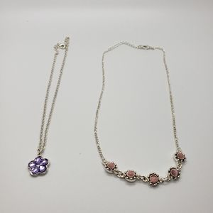 Purple and Pink Necklaces for Little Girls